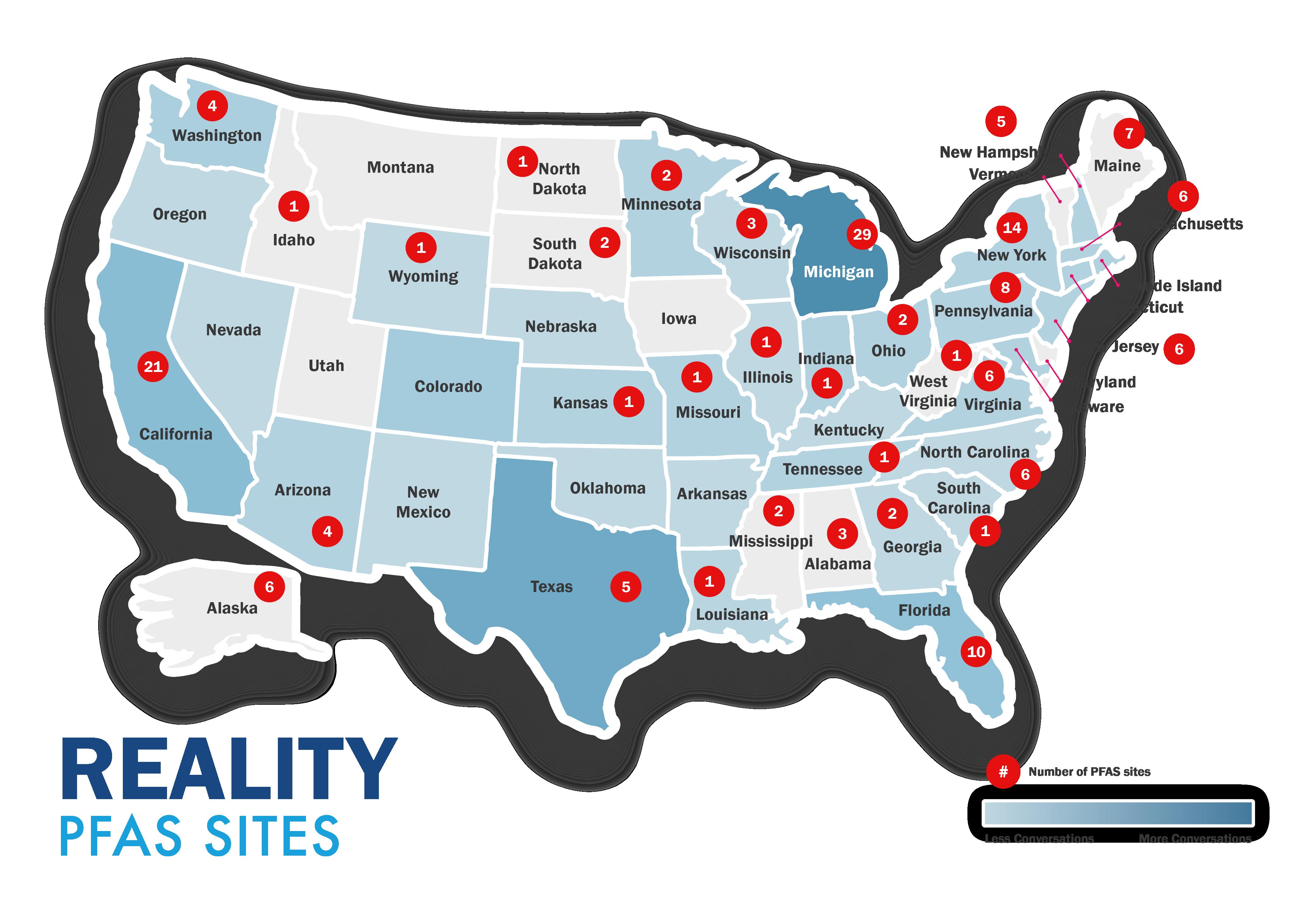 Reality PFAS sites